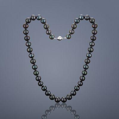 Perlový náhrdelník Mutiara, velké perly – černá