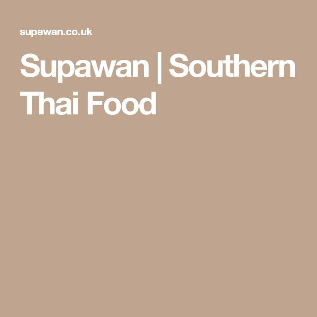 Supawan Thai Food London