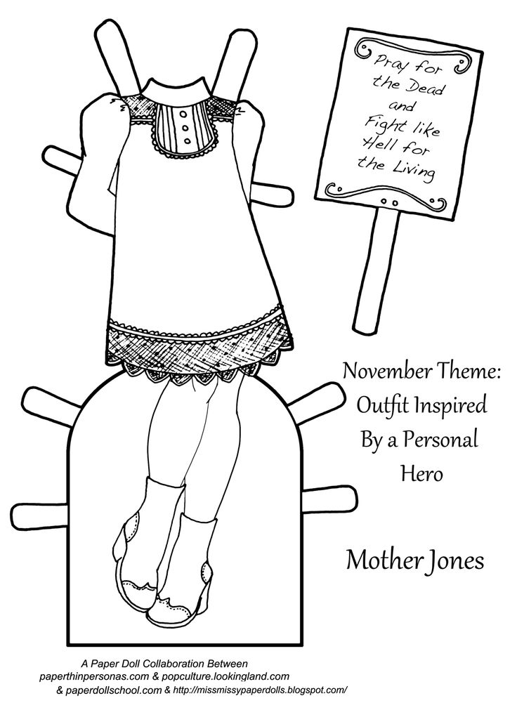 {View Larger} {View the PDF} {More of the 2017 Paper Doll Collaboration} Today's Printable Paper Doll Inspirations:Mother Jones, a personal hero This year, Boots of Popculture Looking Land, Julie of Paper Doll School,  and Miss Missy of Miss. Missy's Paper Dolls are all collaborating on a paper doll series. Each month, we design … More Below! →