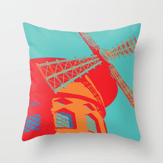 Pop Art Cushion - Moulin Rouge Paris  http://society6.com/designedtoat