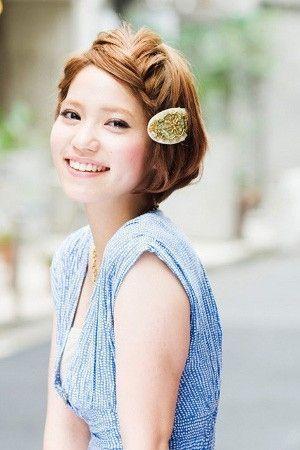 【簡単可愛い】♪ショート&ショートボブのヘアアレンジ集 - NAVER まとめ