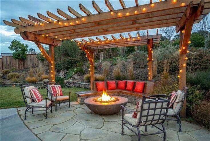 Best 25 pergola lighting ideas on pinterest deck for Hanging fire bowl