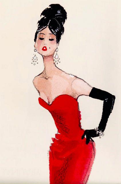vintage fashion sketches   barbie # illustration # retro # hair