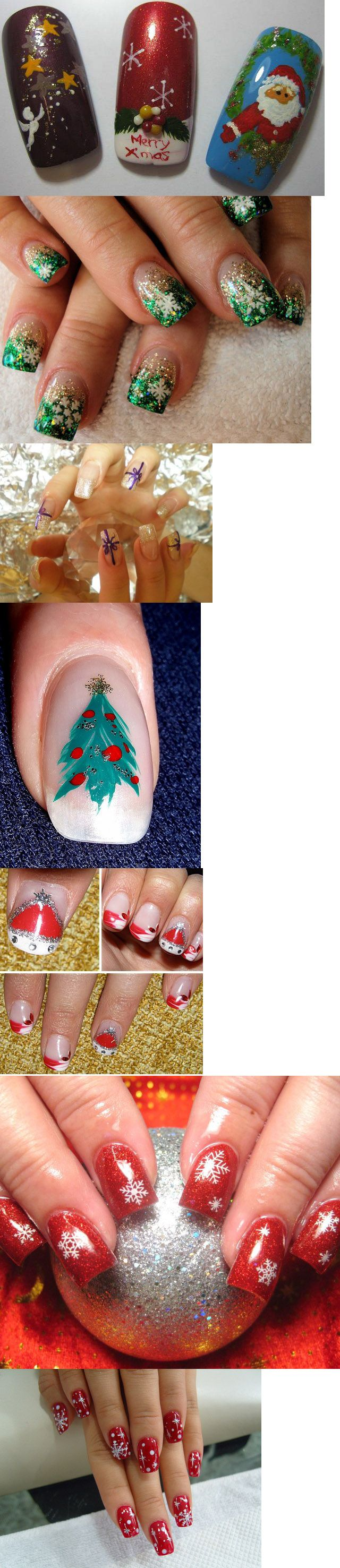 24 best Christmas nail art images on Pinterest | Christmas nails ...