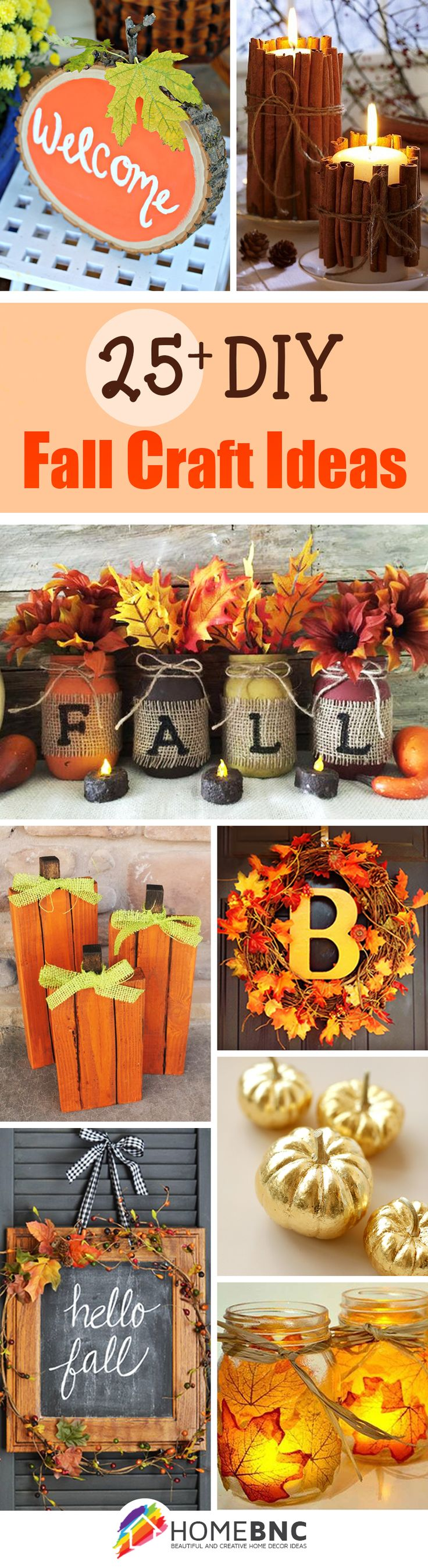 28 Fancy DIY Fall Craft Ideas To Bring Autumn Your Home