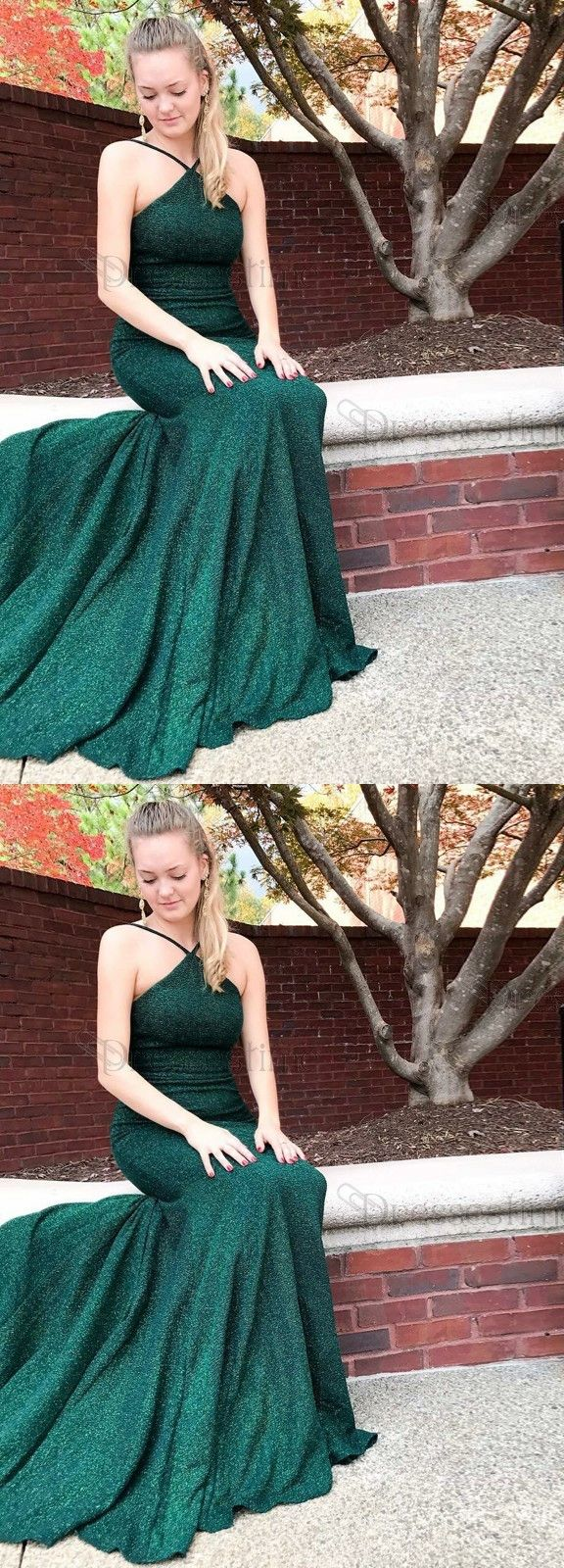 halter hunter prom evening gowns with beaded, fashion formal evening gowns, dreamy mermaid gowns.