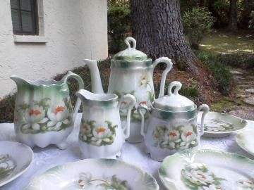 Have a Tea Party! #Teaservice for 6 Demitasse German 28 peice #LotusLustreware by #Hoopties for $65.00