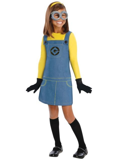 Girls Despicable Me Minion Costume - Party City