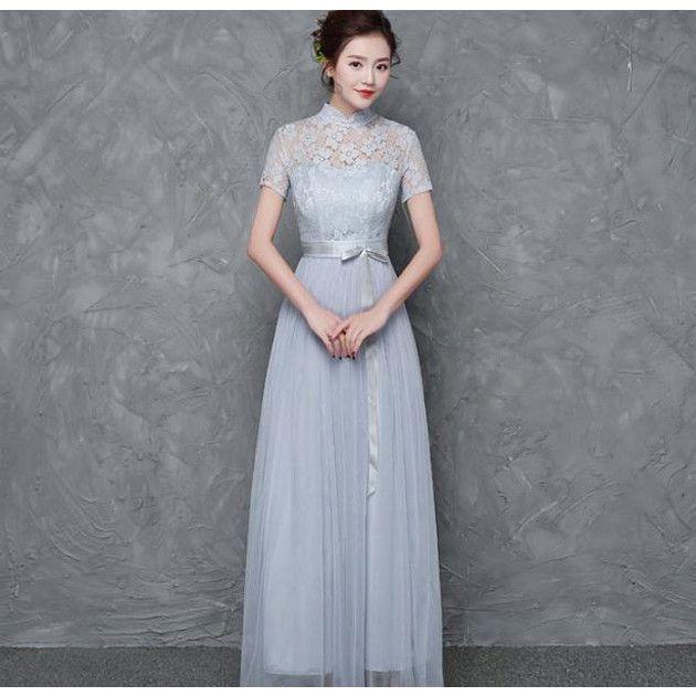 ファッション アネモネ 全3色ブライズメイド ロングドレス マキシ丈 チュール 結婚式ドレス お呼ばれ ワンピース 二次会 袖あり エレガント パーティードレス Yahoo ショッピング パーティードレス お呼ばれワンピース ワンピース