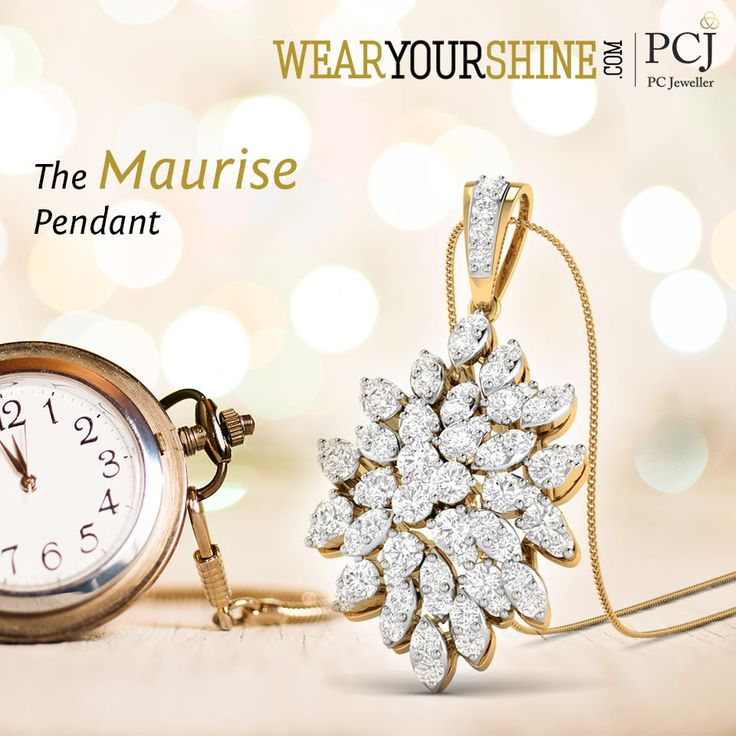 """Add a touch of playful essence to your style with """"The Maurise Pendant""""  #WearYourShine #PCJeweller #Love #Happiness #Pendants #Diamonds #Trends #Jewellery #Trending"""""""