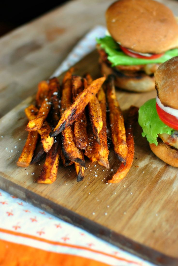 Spicy Baked Sweet Potato Fries ll www.SimplyScratch.com https://uk.pinterest.com/yourhomemag/bohemian-home-style/