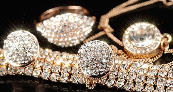Gold and precious stones
