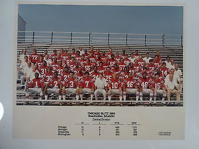 Vintage USFL Chicago Blitz - 1983 Inaugural Season Team Photograph Football