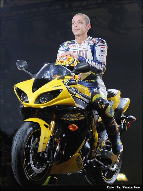 Yamaha R1and Valentino Rossi