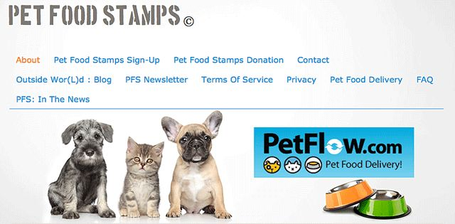 """New Pet Food Stamp Program Announced "" Posted March 28, 2013 There's a very short questionnaire to complete where the applicant gives name, address, phone number, email address and the number and type of pets that need the program. The application page states that with the backlog of applicants it could take up to three weeks for a PFS representative to make contact. #cats #dogs"