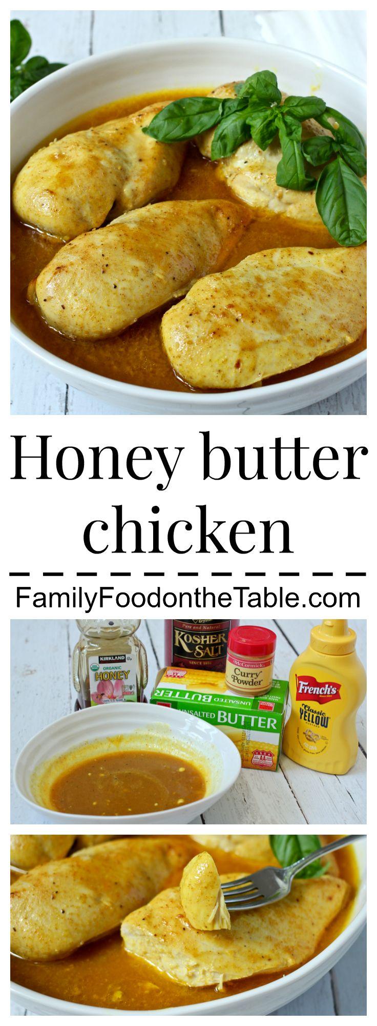 Honey butter chicken is an easy, hands-off, family-friendly dinner   FamilyFoodontheTable.com