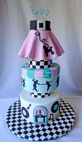 Sock hop - Rock n Roll cake by Diane McCann