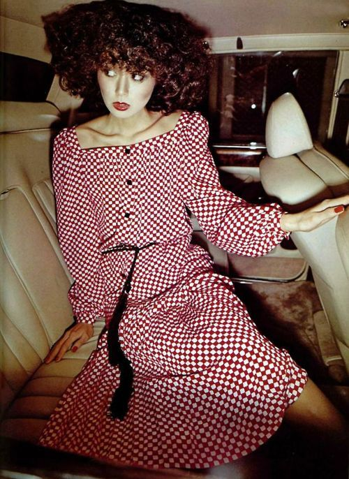 Givenchy silk dress, 1977.