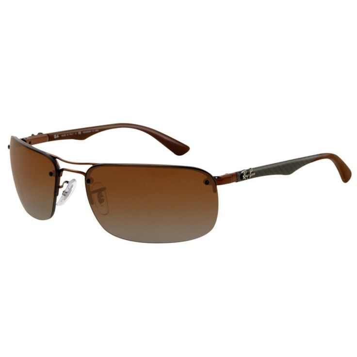 ray ban rb 8310 014 t5 63 mens tech carbon fibre brown metal frame