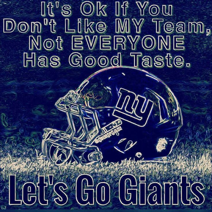 Giants are my favorite football team. I have watched them play before and it was so exciting. I tend to make sure all of my homework is done by Sunday so I can watch their games. #GOBIGBLUE