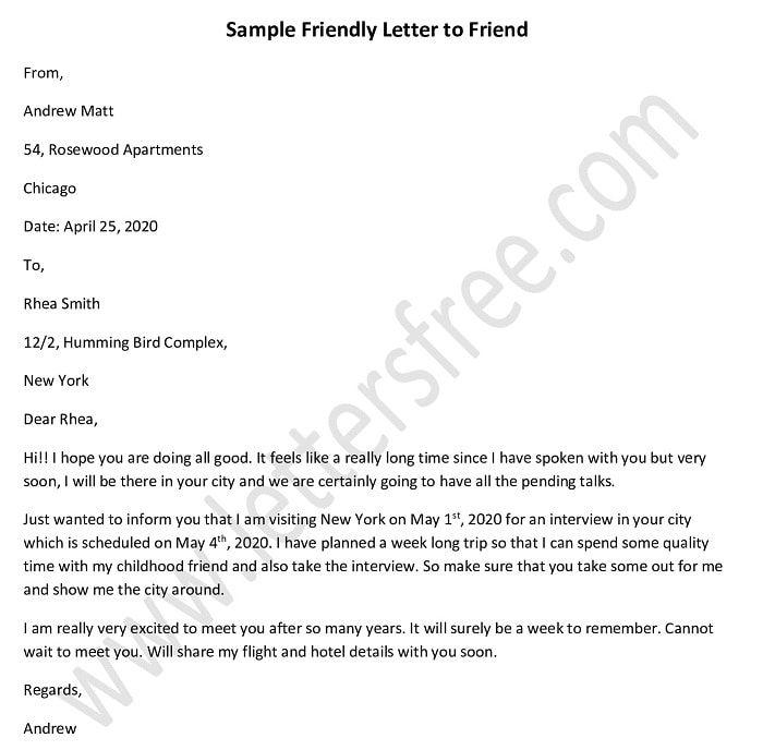 Sample Friendly Letter To A Friend Good Friend Letter Friendly Letter Letter To Best Friend Best Friend Letters