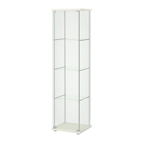 WHITE DETOLF Glass-door cabinet IKEA With a glass-door cabinet, you can show off as well as protect your glassware or your favorite collection.