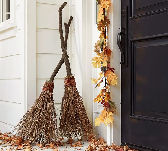 Lit Dancing Broom | Pottery Barn or just make it with sticks
