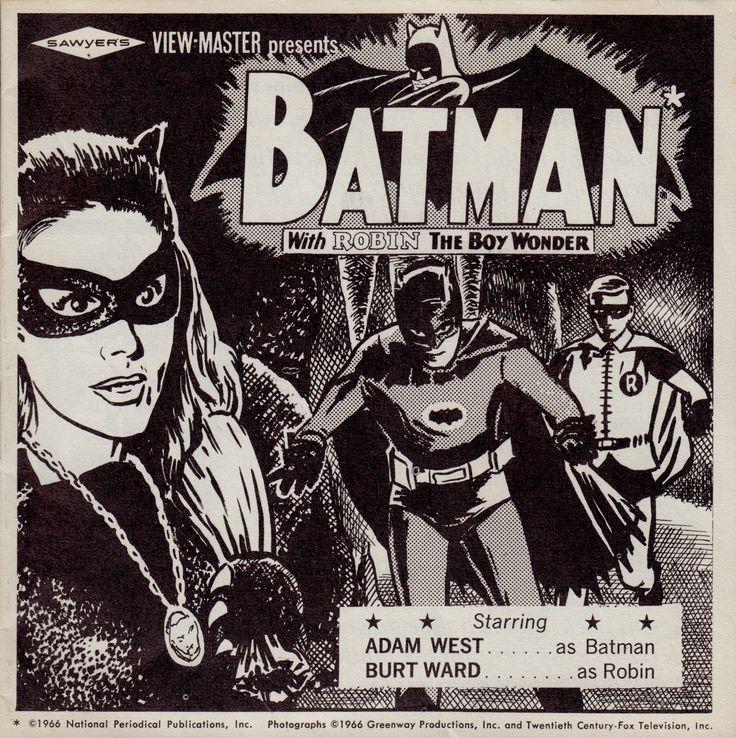 BATMAN 1966 View-Master set.  booklet. Starring ADAM WEST as BATMAN, BURT WARD as ROBIN & JULIE NEWMAR as CATWOMAN (minkshmink)