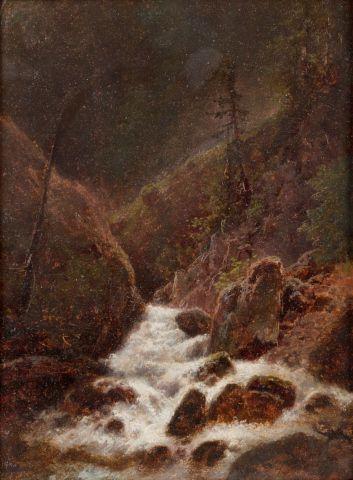 Piepenhagen August Bedřich (1791–1868)   Bystřina ve skalnatých horách, 60. léta 19. stol.   Aukce obrazů, starožitností   Aukční dům Sýpka