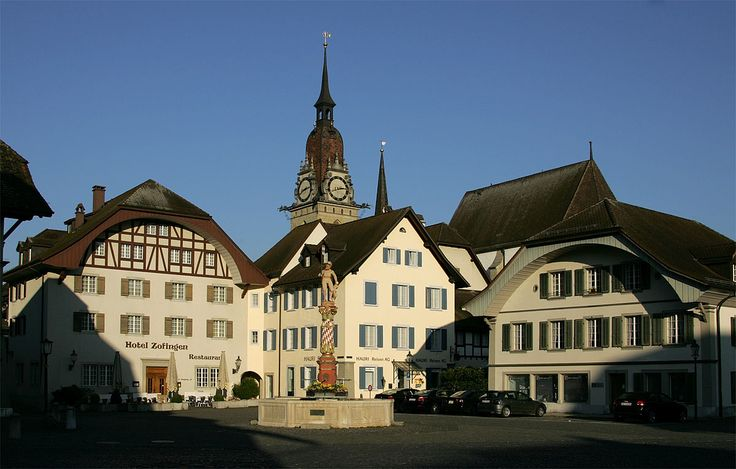 Niklaus Thut Platz in Zofingen, my second-home in Switzerland