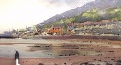 VIDEO: How to paint a beach in watercolour