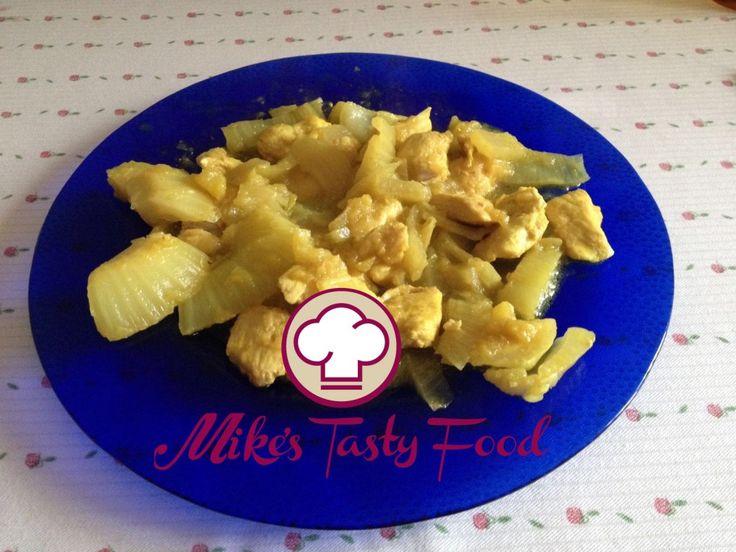 Stufato di pollo con finocchi e mele profumato alla curcuma – Mike's Tasty Food
