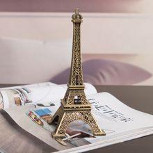 1 Unid Regalos Creativos 10 cm Modelo de la Torre Eiffel de Metal Artesanías Estatuilla Estatua De Aleación De Zinc Recuerdos De Viajes Hogar decoración(China (Mainland))