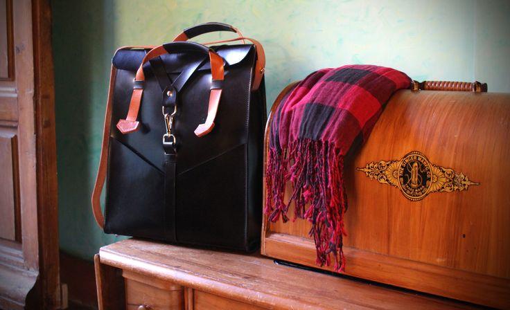Stylish leather bag desing Ludena. Leather handbag and shoulder bag for men, Computer bag, folders, ect. Elegant bag for each day,