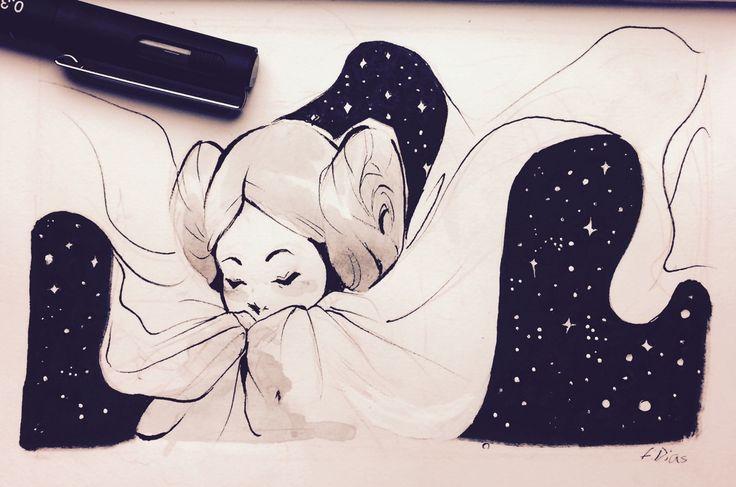 To Carrie Fisher - Princess Leia art by Fernanda Dias