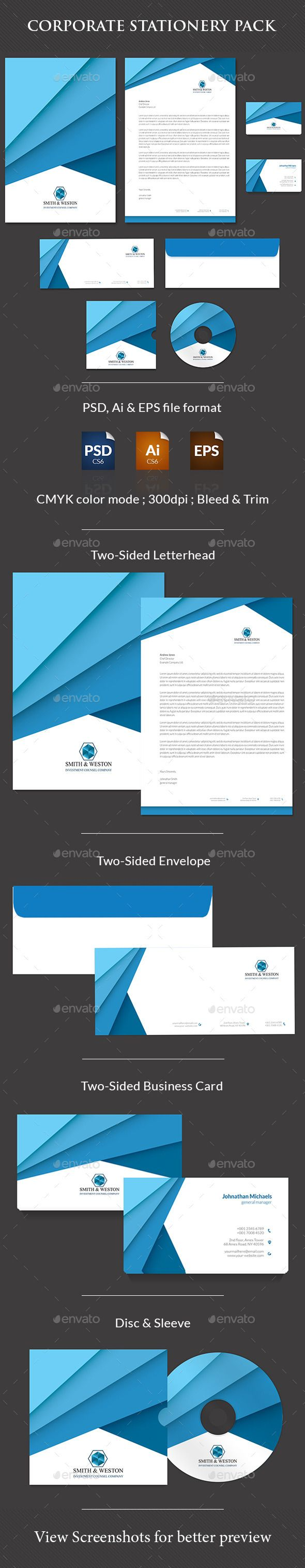 Corporate Stationary Pack - Download here: http://graphicriver.net/item/corporate-stationary-pack/12342880