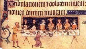 Il pranzo del signore, Salterio di Luttrell