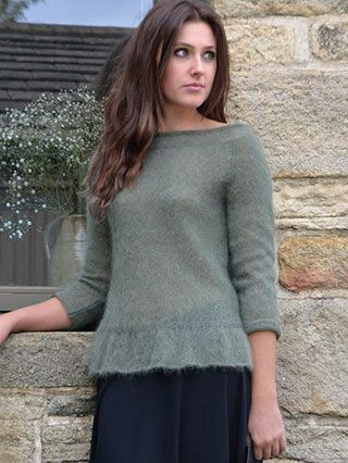 SWALLOW from WILDER by Kim Hargreaves. Mother Nature provides the perfect backdrop for a collection with feminine style. 21 new designs for Spring/Summer 2016 | English Yarns