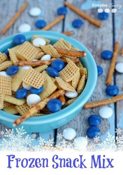 Looking for great easy Disney Frozen Themed food? Svens Snack Mix is perfect for a Disney Frozen birthday party or a Disney Frozen viewing party.