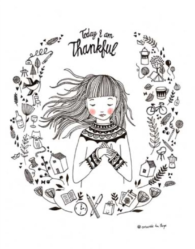 """Poster """" Today i am thankful""""   Petite Louise"""