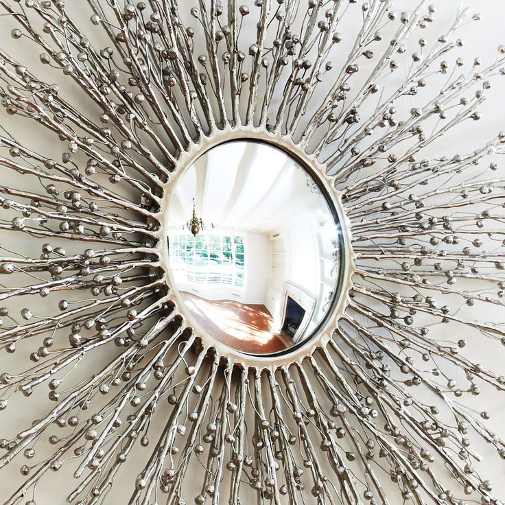 Global Views Sunburst Mirror Nickel: Global Views Decor Berries Nickel Mirror @Sarah Nasafi