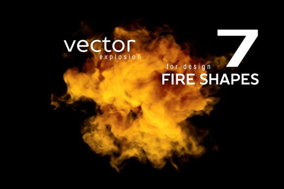 Vector fire shapes by julvil on Creative Market