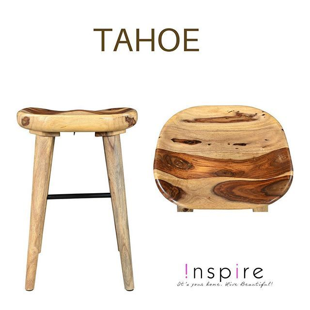 Thanks to the naturally occurring grain patterns in the (sustainably grown)   sheesham wood, no two TAHOE stools are the same... only from !nspire    http://worldwidehomefurnishingsinc.com/tahoe-26-stool-in-natural.html
