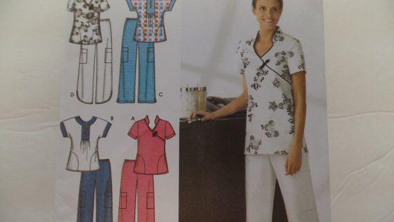 Simplicity 3705 Scrubs Uniforms Size 16-24 by starspatternstore