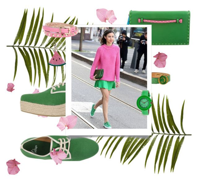 Greenery - Pink Yarrow by idesign-official on Polyvore featuring Castañer, Valentino, Crayo, McQ by Alexander McQueen, Edie Parker and Pier 1 Imports