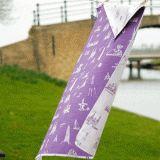 Pattern of Friesland: here you see a purple tea towel.