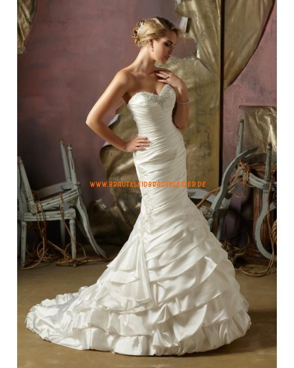 2013 Elegantes Brautkleid im Meerjungfrauenstil mit Kristall