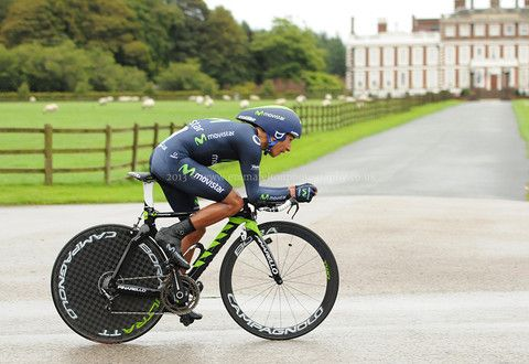 Colombian professional cyclist Nairo Quintana Rojas - competing in a time trial, Knowsley, UK - Emma Felton - Cycling Photography & Gifts