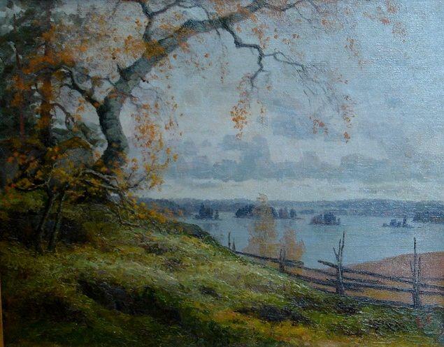 Ellen Favorin (1852-1919) - Swedish-Finnish Ellen Favorin (1852-1919) lived at the farm Övre Knapans when she stayed at Önningebykolonin - The Önningeby Artists' Colony on Åland islands.