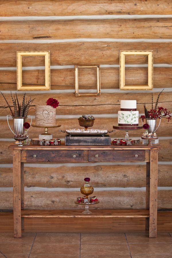 Wedding Cake Table Rustic English Hunting Wedding Ideas http://www.kristinalynnphoto.com/ #colorado #weddings